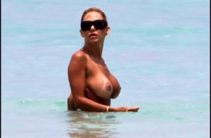 Shauna Sand, la future ex-femme de Romain de Secret Story 3... topless avec son nouveau chéri ! Problèmes de bronzage, Shauna ?
