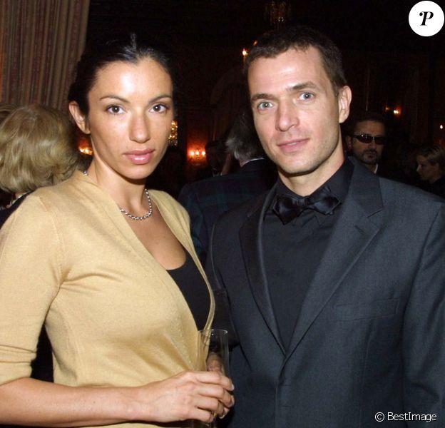 """Aure Atika et Philippe """"Zdar"""" en Suisse, le 6 mars 2001."""