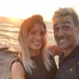 La sympathique Jean-Pascal Lacoste et Delphine Tellier, le 20 juillet 2019 à Saint-Jean-de-Luz.