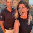 Le très sympathique Jean-Pascal Lacoste et Delphine Tellier, le 20 juillet 2019 à Saint-Jean-de-Luz.