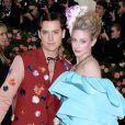 """Cole Sprouse et sa compagne Lili Reinhart (habillés par Salvatore Ferragamo) - Arrivée des people à l'after party de la 71ème édition du MET Gala (Met Ball, Costume Institute Benefit) sur le thème """"Camp: Notes on Fashion"""" au Metropolitan Museum of Art à New York, le 6 mai 2019"""