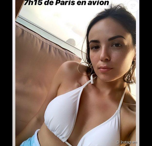 Agathe Auproux divine lors de son voyage en Martinique, en juillet 2019.