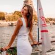 """Julia Sidi Atman de """"Pékin Express 2019"""" sublime en robe, à Paris, le 24 juillet 2019"""