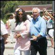Oprah Winfrey en vacances à Barcelone, en compagnie de tout son staff, visite la cathédrale Sagrada Familia