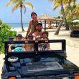 Lionel Messi en vacances sur l'île de Jumby Bay, à Antigua-et-Barbuda. Juillet 2019.