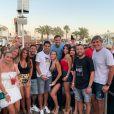 Lionel Messi, Antonela Roccuzzo et des amis en vacances à Formentera. Juillet 2019.