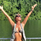 Isabelle Camus : Abdos et bikini, l'épouse de Yannick Noah s'éclate...