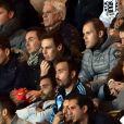 Michael Ducruet, à gauche, et son frère Louis, fils de la Princesse Stéphanie, sont au stade Louis II pour le match Monaco / Marseille, le 14 décembre 2014.