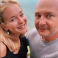 Cauet complice avec sa fille Ivana (17 ans) lors de vacances à Saint-Martin en juillet 2019.