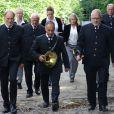 Image des obsèques du prince Ferdinand von Bismarck le 3 août 2019 au mausolée de Bismarck à Friedrichsruh, près de Hambourg.