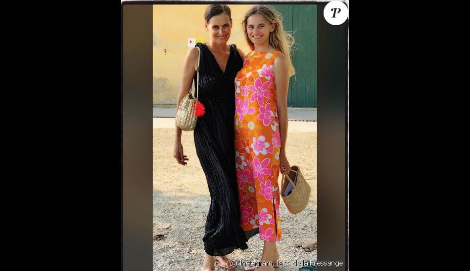 Inès de la Fressange et sa fille Violette sur Instagram, le 30 juin 2019.