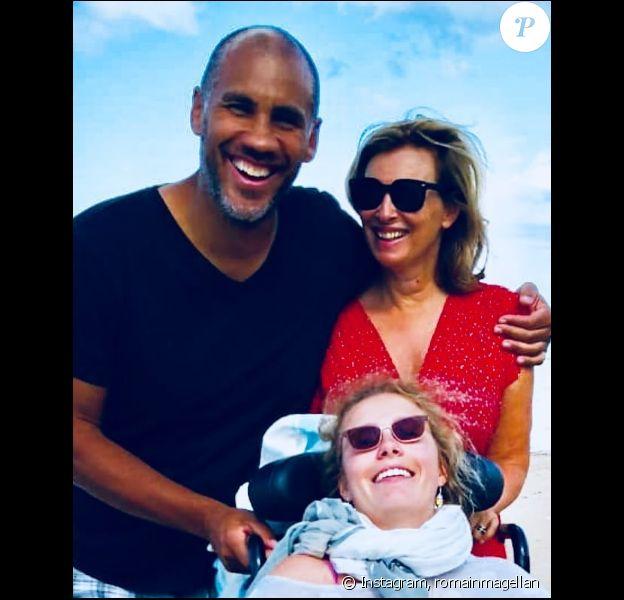 Romain Magellan et Valérie Trierweiler en Normandie. Instagram, le 7 août 2019.