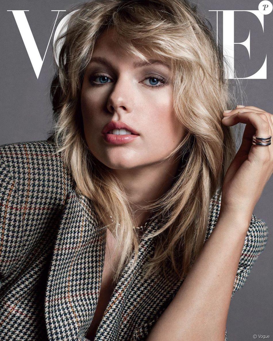 """Taylor Swift en couverture de """"Vogue"""", édition américaine, numéro de septembre."""