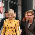 Taylor Swift arrive à NRJ rue Boileau à Paris pour enregistrer l'émission de Cauet qui passera en début de semaine le 25 Mai 2019