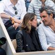 Alexia Laroche-Joubert et son compagnon Tom Benainous - People dans les tribunes lors de la finale messieurs des internationaux de France de tennis de Roland Garros 2019 à Paris le 9 juin 2019. © Jacovides-Moreau/Bestimage