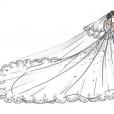 La robe de mariée de Marie Chevallier pour ses noces avec Louis Ducruet. Une pièce sur mesure imaginée par Pauline Ducruet et l'atelier Boisanger.