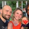 """Karine Le Marchand avec Nathalie et Victor de """"L'amour est dans le pré 2017"""" et leur fils - Instagram, 5 juin 2019"""