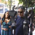 Andrea Bocelli à Venise avec sa compagne Veronica.