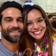 Marine Lorphelin et son chéri Christophe le 22 juin 2019 à Tahiti.