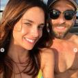 Marine Lorphelin profite de vacances à Tahiti où elle a retrouvé son amoureux Christophe, le 28 juin 2019.