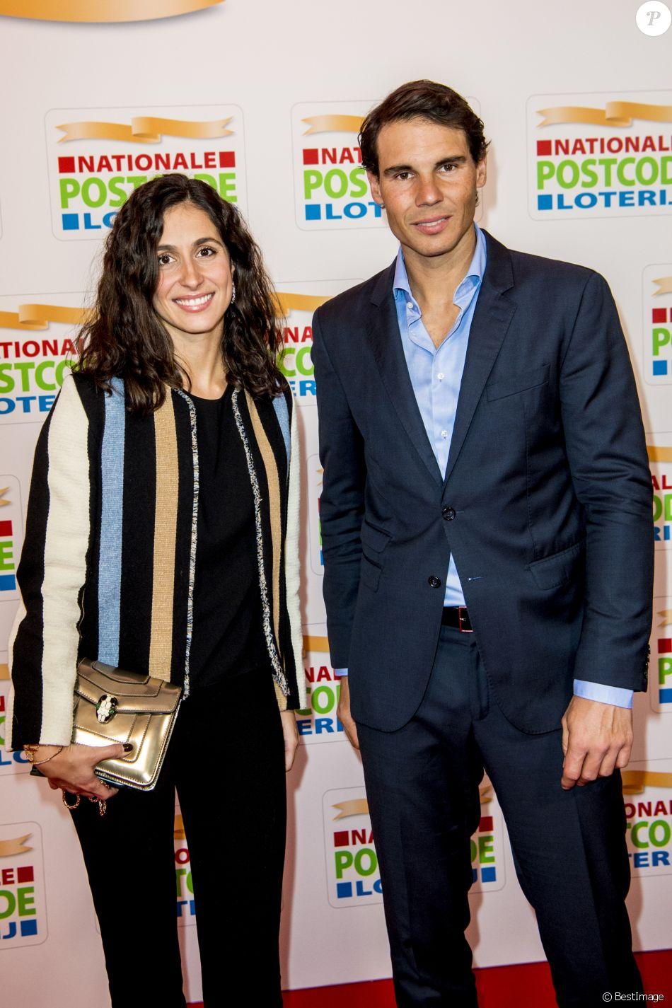 Rafael Nadal et Xisca Perello lors du Goed Geld Gala à Amsterdam. Le 15 février 2018.