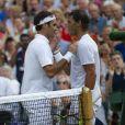 Roger Federer remporte la demi-finale face à Rafael Nadal lors du tournois de Wimbledon 2019 - Le tournois de Wimbledon 2019, Londres les 12, 13 et 14 juillet 2019.