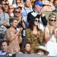 Famille de Rafael Nadal - Les célébrités dans les tribunes de Wimbledon à Londres, le 12 juillet 2019.