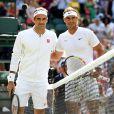 Demi-finale du tournoi de Wimbledon - Rafael Nadal vs Roger Federer (7-6,1-6,6-3,6-4) à Londres, le 12 juillet 2019.