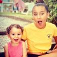Jenna et Manel, les filles de Wafa, sur Instagram, le 17 août 2019