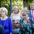 La princesse Margriet et la princesse Irene des Pays-Bas, suivies par le roi Willem-Alexander et la reine Maxima, lors des obsèques de la princesse Christina au palais Noordeinde à La Haye le 22 août 2019.