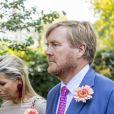 La reine Maxima et le roi Willem-Alexander des Pays-Bas lors des obsèques de la princesse Christina au palais de Noordeinde à La Haye le 22 août 2019.