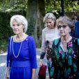 La princesse Beatrix des Pays-Bas, la princesse Irene et la princesse Margriet lors des obsèques de leur soeur la princesse Christina au palais Noordeinde à La Haye le 22 août 2019.