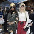 """Naomi Campbell et Claudia Schiffer au défilé de mode Prêt-à-Porter automne-hiver 2019/2020 """"Chanel"""" à Paris. Le 5 mars 2019 © Olivier Borde / Bestimage"""