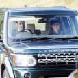 Le prince William et Catherine Kate Middleton, la duchesse de Cambridge - La famille royale d'Angleterre se rend a l'eglise Crathie Kirk au Château de Balmoral, le 22 septembre 2013.