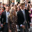 Sienna Miller et son compagnon Lucas Zwirner - Les invités arrivent au mariage de E. Goulding et C. Jopling en la cathédrale d'York, le 31 août 2019