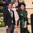 La princesse Beatrice d'York et son compagnon Edoardo Mapelli Mozzi - Les invités arrivent au mariage de E. Goulding et C. Jopling en la cathédrale d'York, le 31 août 2019