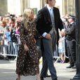 Sienna Miller et son compagnon Lucas Zwirner - Les invités arrivent au mariage de E. Goulding et C.Jopling en la cathédrale d'York, le 31 août 2019