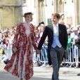 James Blunt et sa femme Sofia Wellesley - Les invités arrivent au mariage de E. Goulding et C.Jopling en la cathédrale d'York, le 31 août 2019