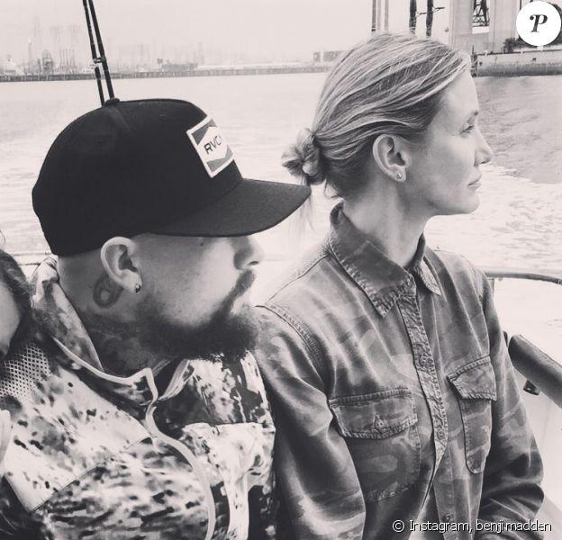 Benji Madden a posté cette photo de lui et de Cameron Diaz pour les 47 ans de l'actrice, sur Instagram, le 30 août 2019.
