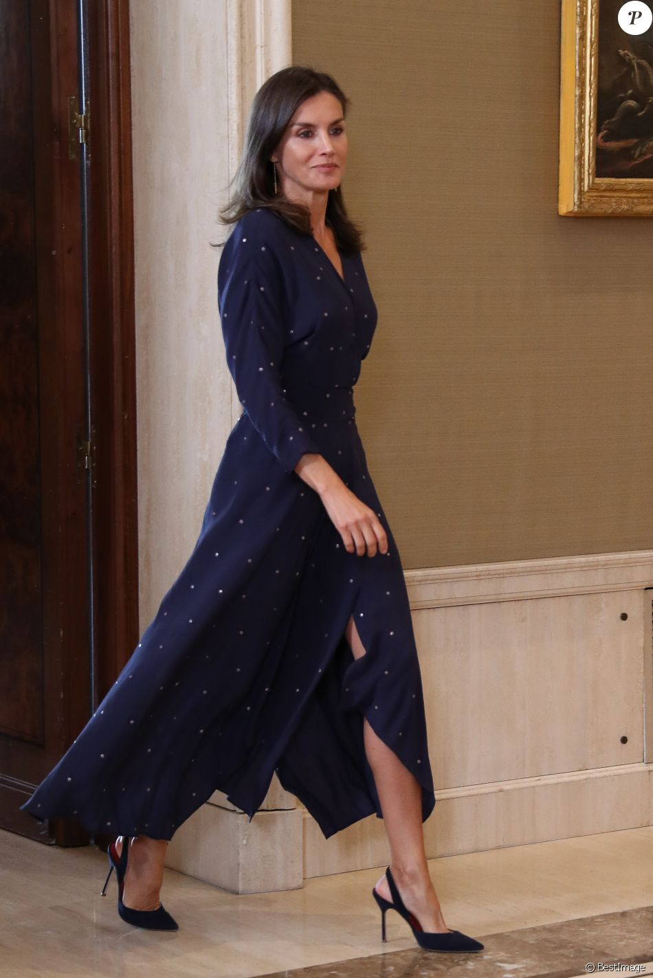 La reine Letizia et le roi Felipe VI d'Espagne recevait le 3 septembre 2019 en audience, au palais de la Zaruela à Madrid, une délégation du Comité espagnol des représentants des personnes handicapées (CERMI).