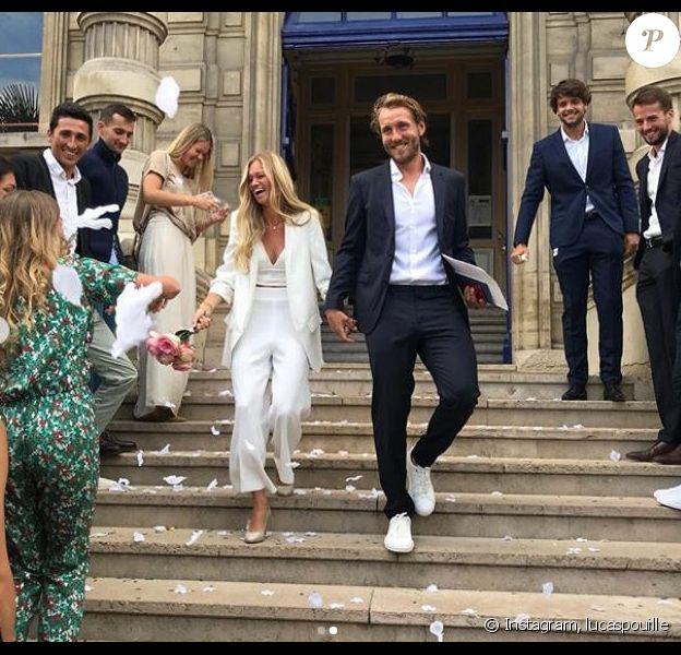 Lucas Pouille et Clémence Bertrand annoncent leur mariage sur Instagram le 8 septembre 2019. L'union civile a été célébrée en la mairie de Saint-Cloud, dans les Hauts-de-Seine.