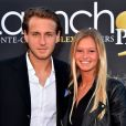 Lucas Pouille et sa compagne Clémence à l'arrivée de la Launch Party au Zelo's le 9 avril 2016 à Monaco, lors de la 110ème édition du Monte-Carlo Rolex Masters à Monaco.