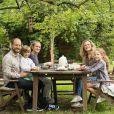 Camille Raymond avec son mari et ses enfants, le 28 mai 2019 sur Instagram