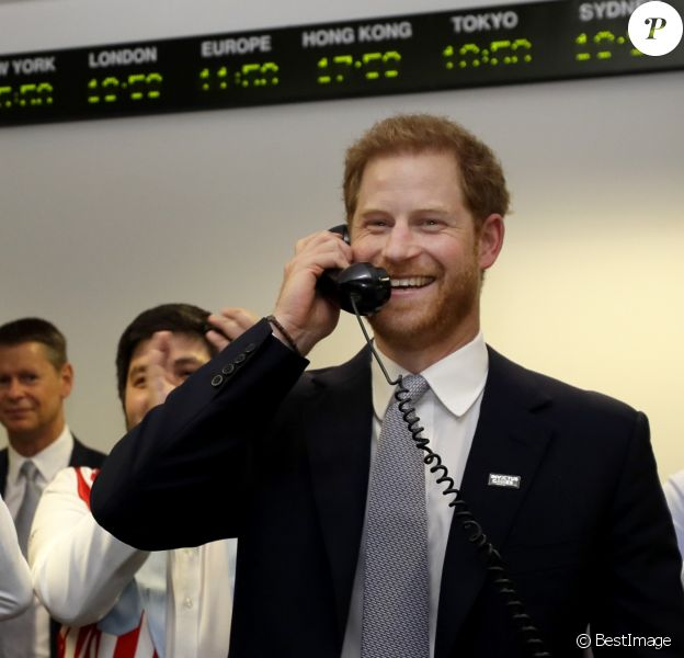 "Le prince Harry, duc de Sussex, à la 15ème édition du ""BGC Charity Day"" au quartier d'affaires Canary Wharf à Londres, Royaume Uni, le 11 septembre 2019."