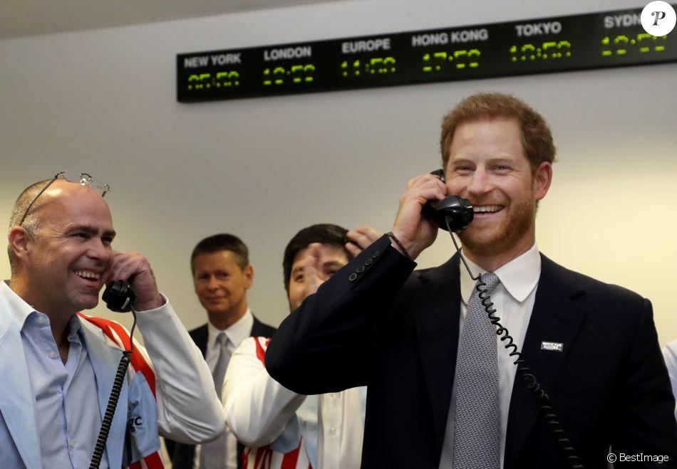 """Le prince Harry, duc de Sussex, à la 15ème édition du """"BGC Charity Day"""" au quartier d'affaires Canary Wharf à Londres, Royaume Uni, le 11 septembre 2019."""