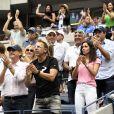 Xisca Perello et la famille de Rafael Nadal lors de la finale de l'US Open à New York le 8 septembre 2019. © Chryslene Caillaud/Panoramic/Bestimage