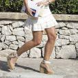 Xisca Perello, compagne de Rafael Nadal, lors d'un déjeuner avec la famille Nadal à Majorque le 26 juillet 2019.