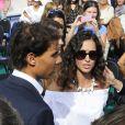Rafael Nadal avec sa compagne Maria Francisca (Xisca/ Mery) Perello lors de l'inauguration de son académie de tennis à Palma de Majorque le 19 octobre 2016.
