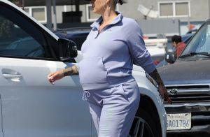 Amber Rose, accouchement imminent : sortie au restaurant avec Alexander