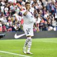 Joie des joueurs du PSG apres le but de Neymar Jr. (PSG) lors du match de championnat de Ligue 1 Conforama opposant le Paris Saint-Germain au Racing Club de Strasbourg Alsace au Parc des princes à Paris, France, le 14 septembre 2019. Le PSG a gagné 1-0. © Jean-Baptiste Autissier/Panoramic/Bestimage